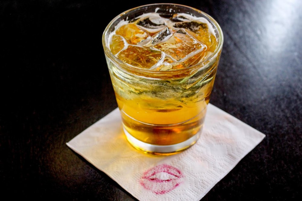 The Kiss Me, I'm Angry cocktail with Angry Orchard hard cider, Jameson Irish whiskey and amaretto from Cask N' Flagon. Photo courtesy of Cask N' Flagon