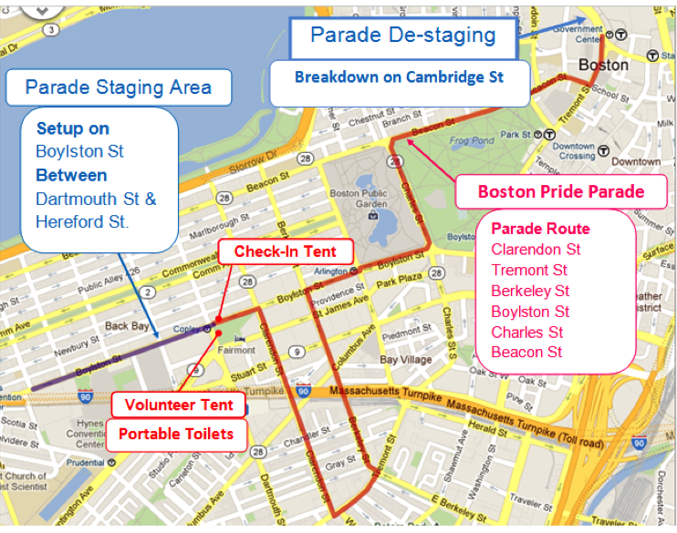 - Parade tentative route