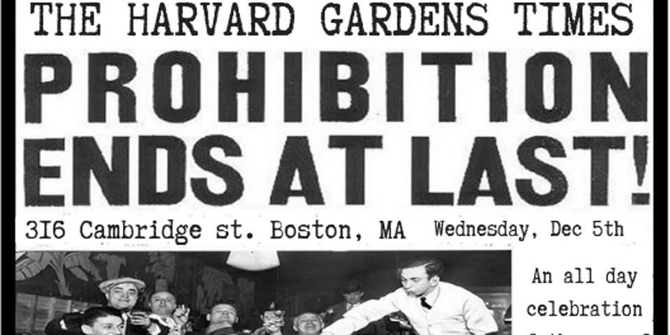 Prohibition Ends At Last Bostonattitudebostonattitude