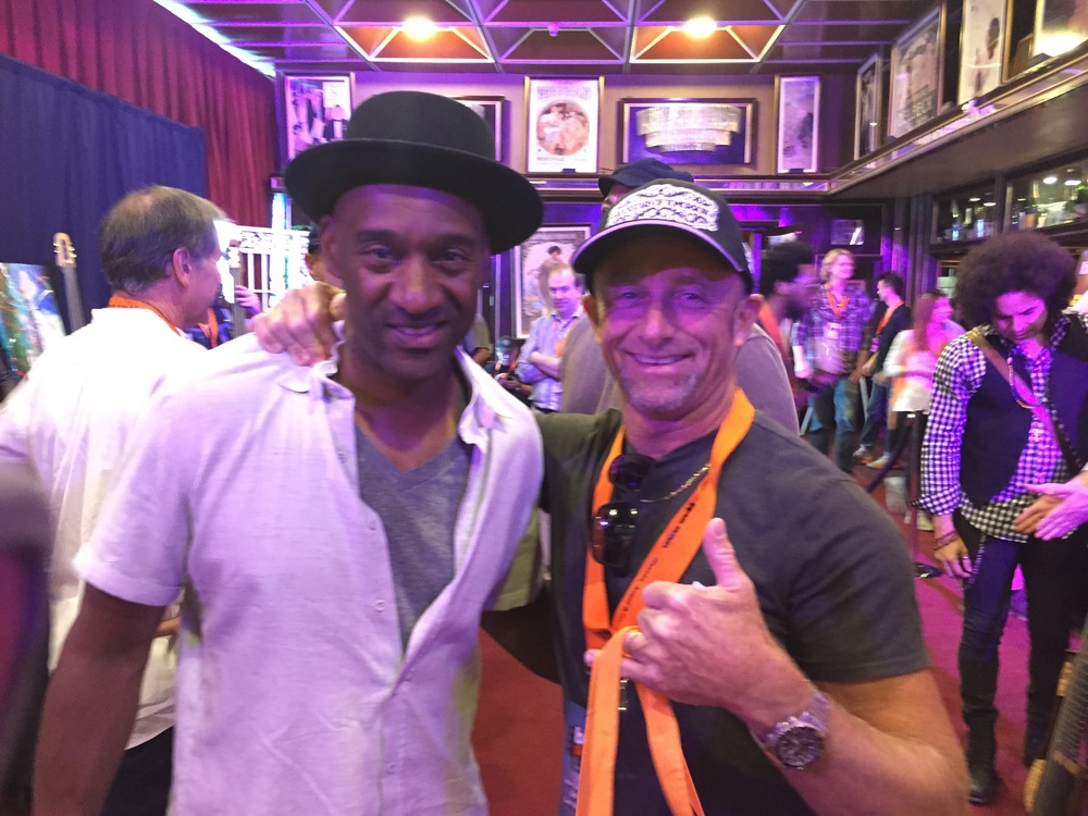 Rok Academy Owner Brad Cummings with Mr. Marcus Miller!