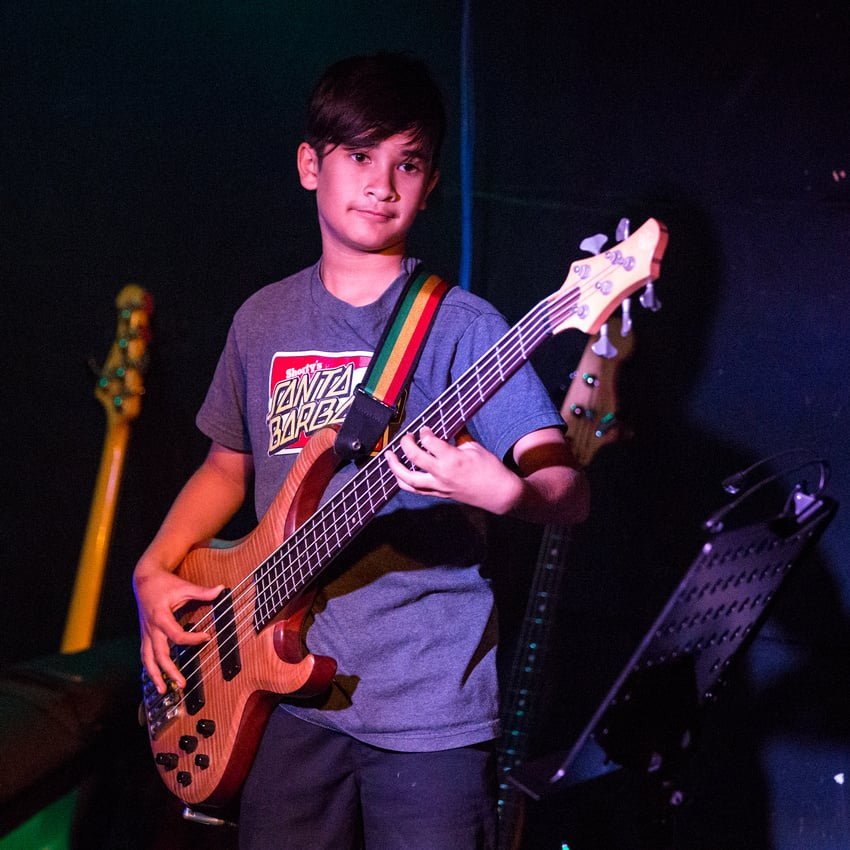 No Compy's Pharaoh playing bass