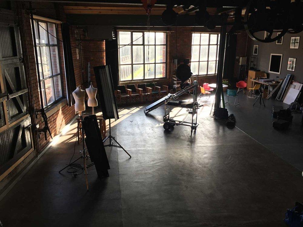 - The studio.
