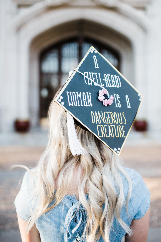 Graduation cap decoration for senior pictures