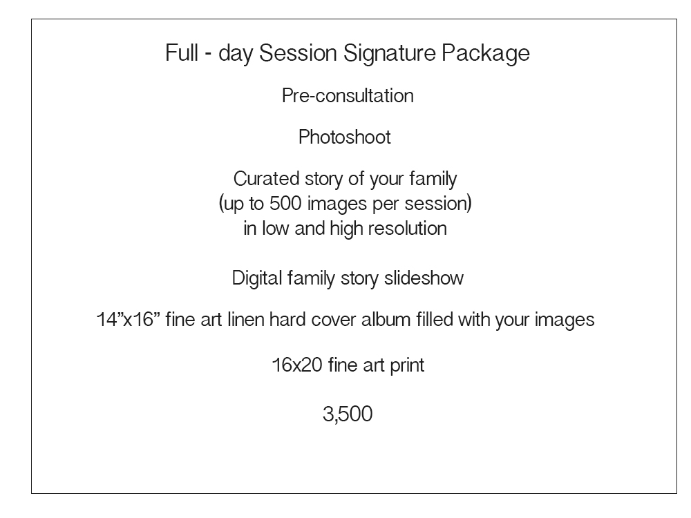Price List for Sales page Signature Collection  Day in Life.jpg