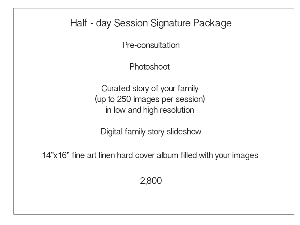 Half Day Price List for Sales page Signature Collection  Day in Life.jpg