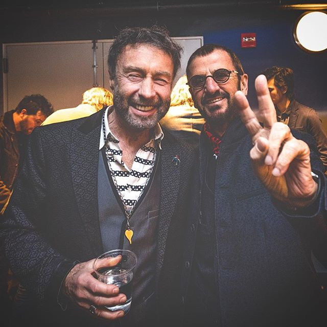 In #BadCompany with these cats🕶🕶. Two of the best to EVER do it; STILL doing it. #PaulRodgers fronted my all time favorite band #Free 🇬🇧 Ritchie, just being Ritchie✌🏼➕♥️. #TheBeatles #RingoStarr
