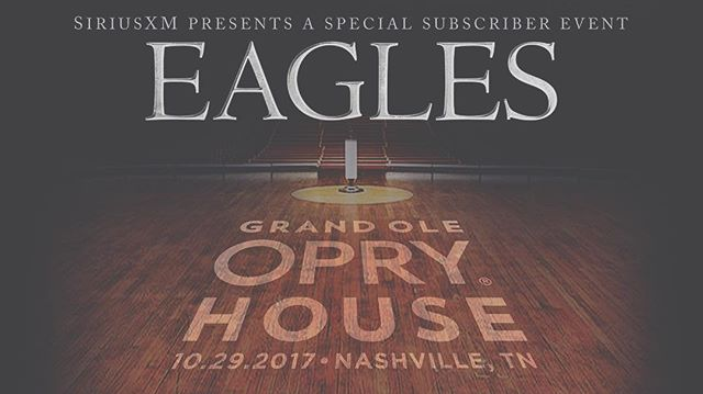 24 hours and counting⏱(I know ONE person who's got Sirius, seriously😑). I can't wait, my first time at the Opry. I MADE IT🎟 #Eagles #WalshWay