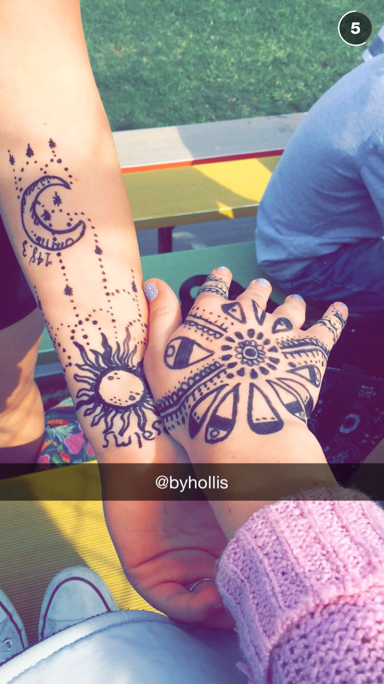 Thank goodness for Snapchat capturing this... While waiting for our high school's baseball game to start, I grabbed some markers and went crazy on my friends hands!