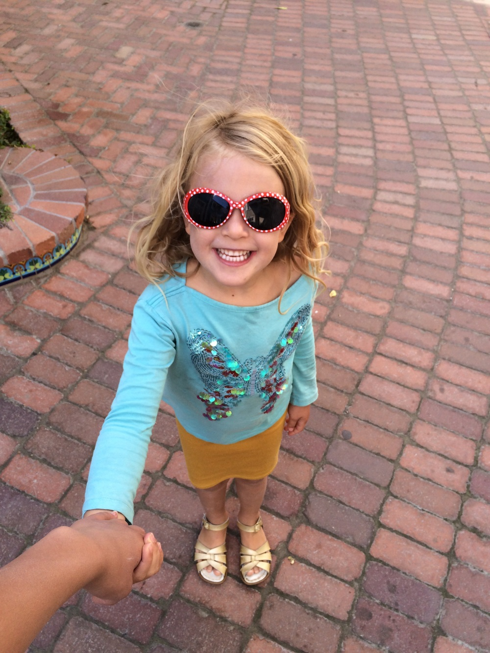 Iris rocking her new shades- Avila Beach, California
