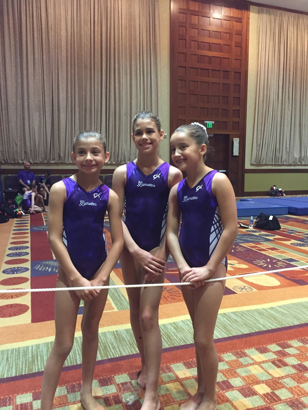 Ashton and her teammates at Nationals for gymnastics.