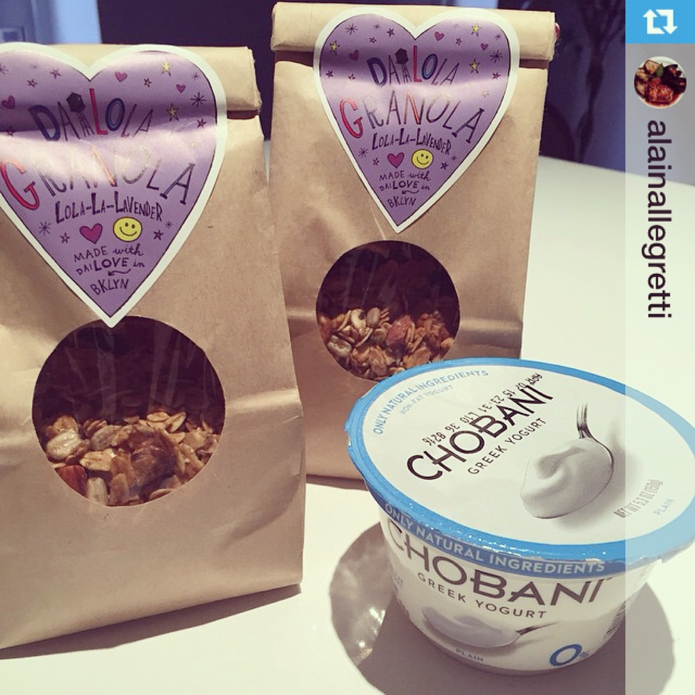 ‪#‎Repost‬ @alainallegretti with @repostapp.・・・Breakfast Of Champions! Of course has to be lavender granola. @missgal ‪#‎dailola‬