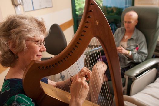 Harpist Margaret Stephens