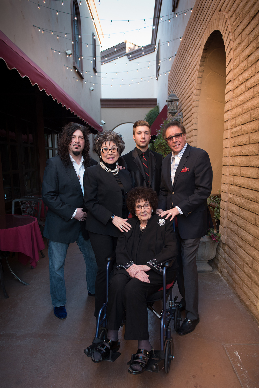 (clockwise from top left) Ronnie Mancuso, Lorraine Hunt-Bono, Roman Mancuso, Dennis Bono, and Mama Maria Perry.