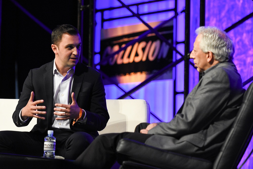 John Zimmer, co-founder of Lyft at Center Stage.