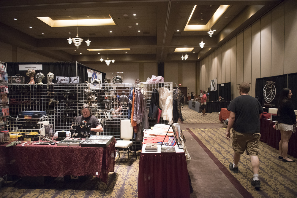 Vendors display their goods on the conference floor at CombatCon at The Palms Resort and Casino in Las Vegas, Saturday, June 27, 2015.(Jason Ogulnik/Las Vegas Review-Journal)