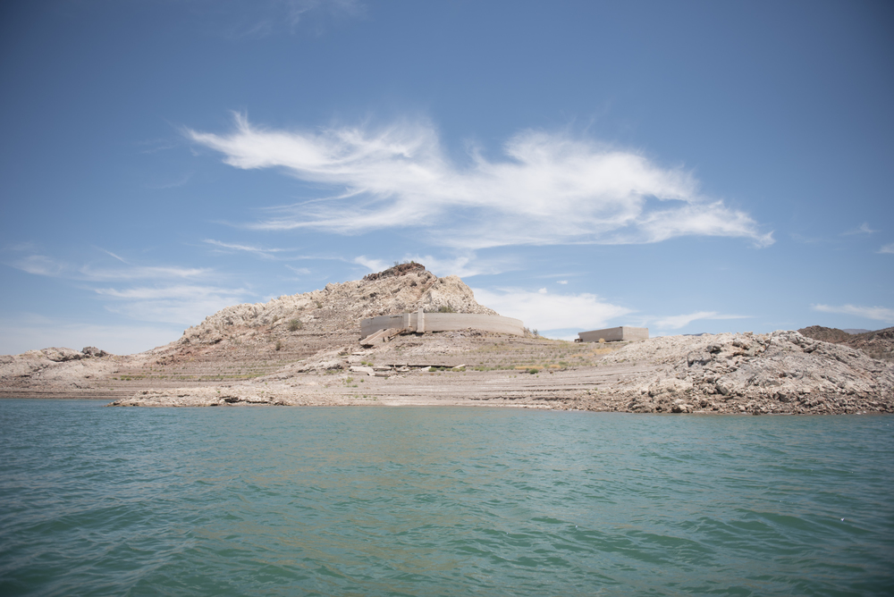 Lake Mead's receding waterline is shown in Boulder City, Friday, July 3, 2015.(Jason Ogulnik/Las Vegas Review-Journal)