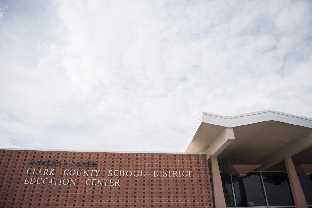 Clark County School District's Education Center at 2832 East Flamingo Road in Las Vegas is shown, Thursday, July 2, 2015.(Jason Ogulnik/Las Vegas Review-Journal)