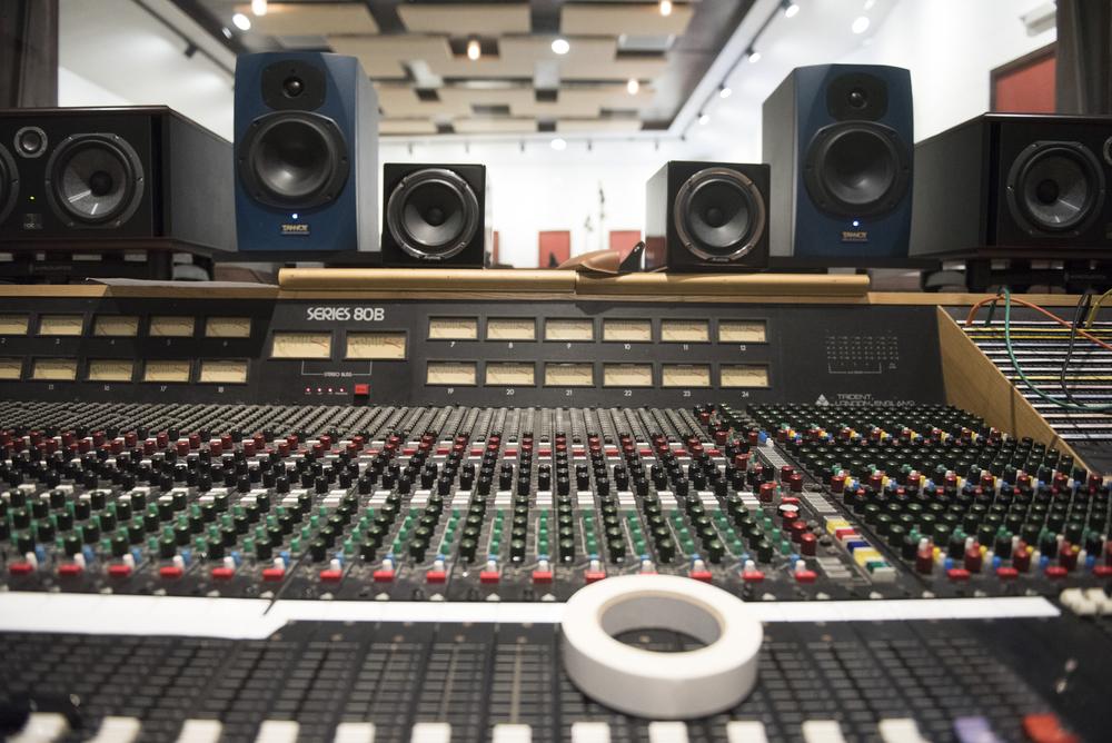 The sound board is shown at National Southwestern Recording in Las Vegas, Thursday, July 16, 2015.(Jason Ogulnik/Las Vegas Review-Journal)