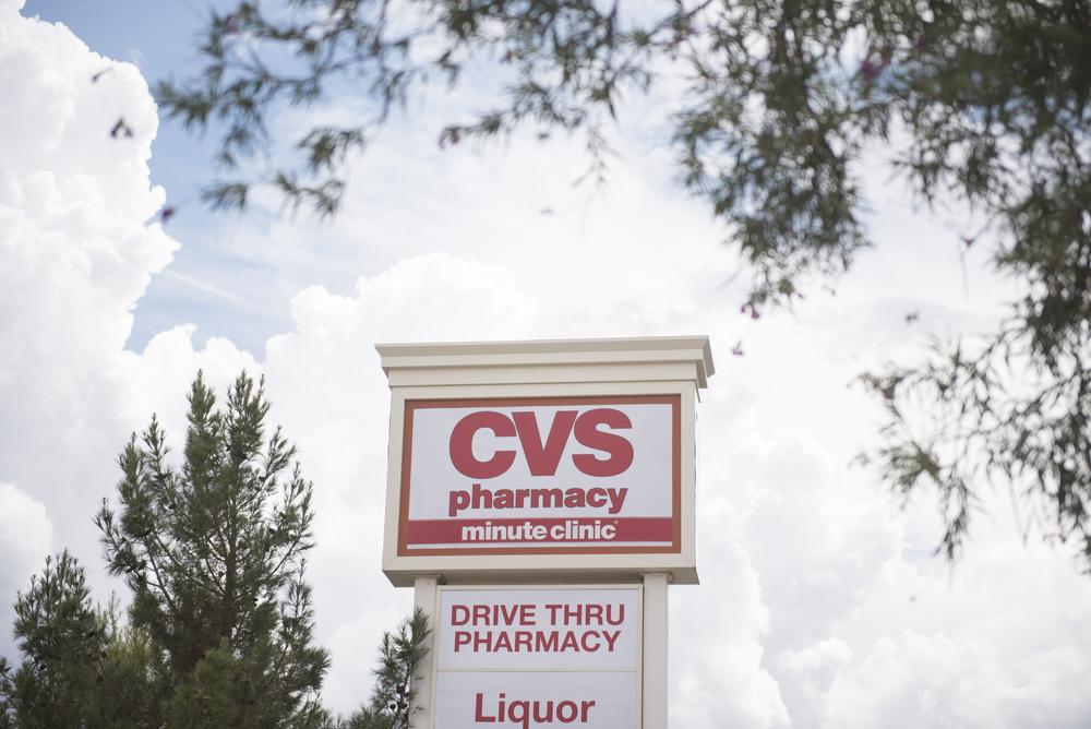 CVS Pharmacy signage at 1825 East Warm Springs Road in Las Vegas is shown, Thursday, Aug. 13, 2015. (Jason Ogulnik/Las Vegas Review-Journal)