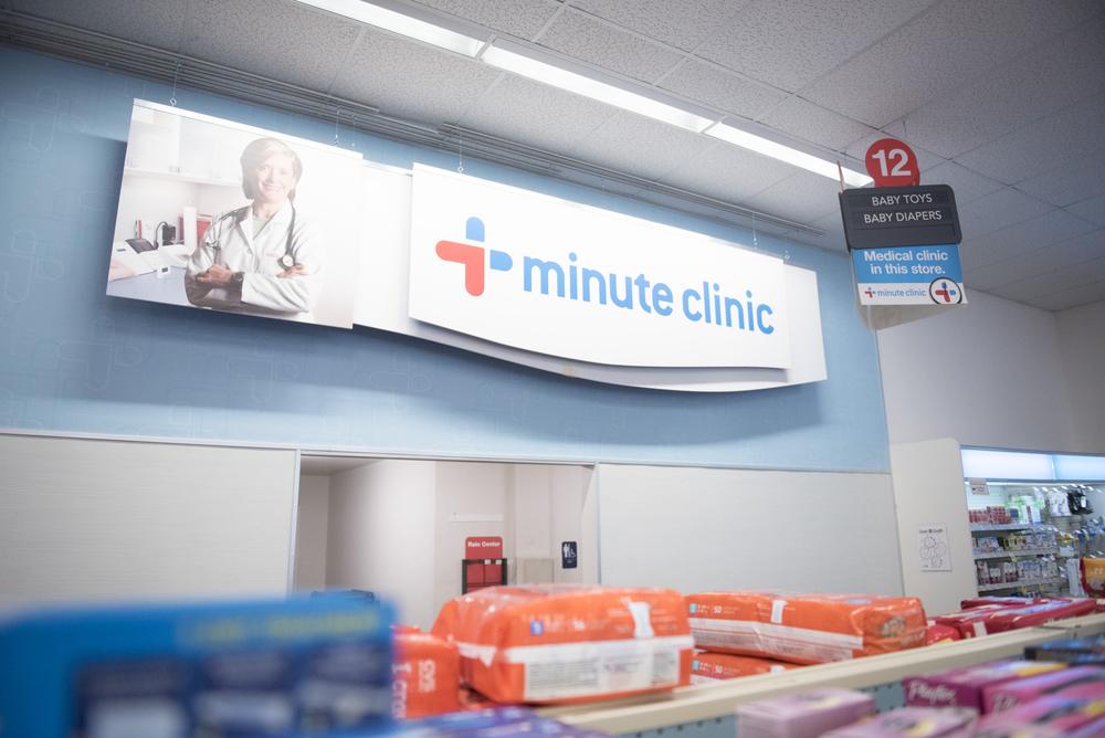Minute Clinic signage is shown in CVS Pharmacy at 1825 East Warm Springs Road in Las Vegas, Thursday, Aug. 13, 2015. (Jason Ogulnik/Las Vegas Review-Journal)
