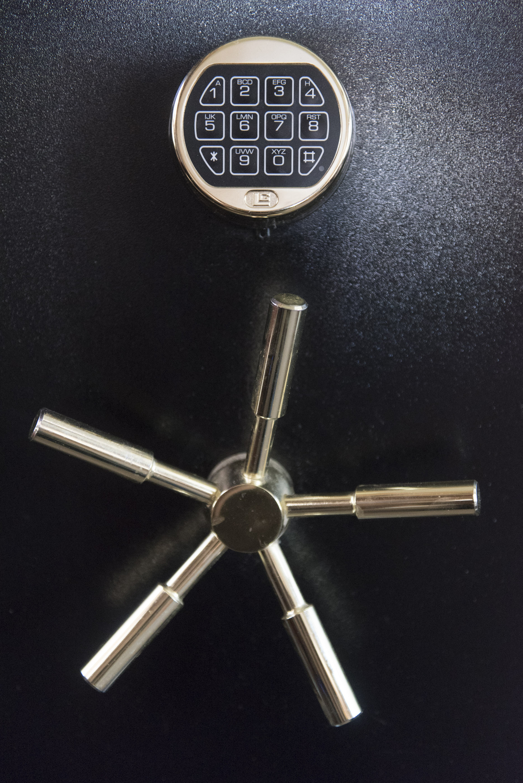 The lock to the safe in Kristi Beber's Las Vegas home is shown Friday, Sept. 11, 2015. Jason Ogulnik/Las Vegas Review-Journal