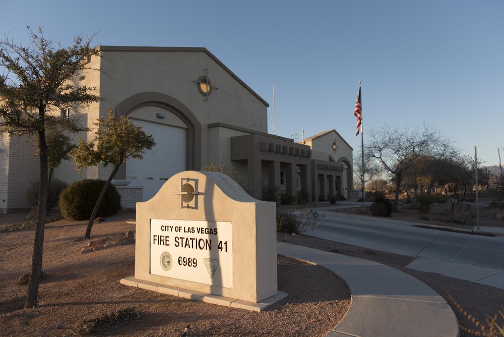 Las Vegas Fire & Rescue's Fire Station 41 at 6989 N. Buffalo Dr. in Las Vegas is seen Monday, Jan. 11, 2016. Jason Ogulnik/Las Vegas Review-Journal