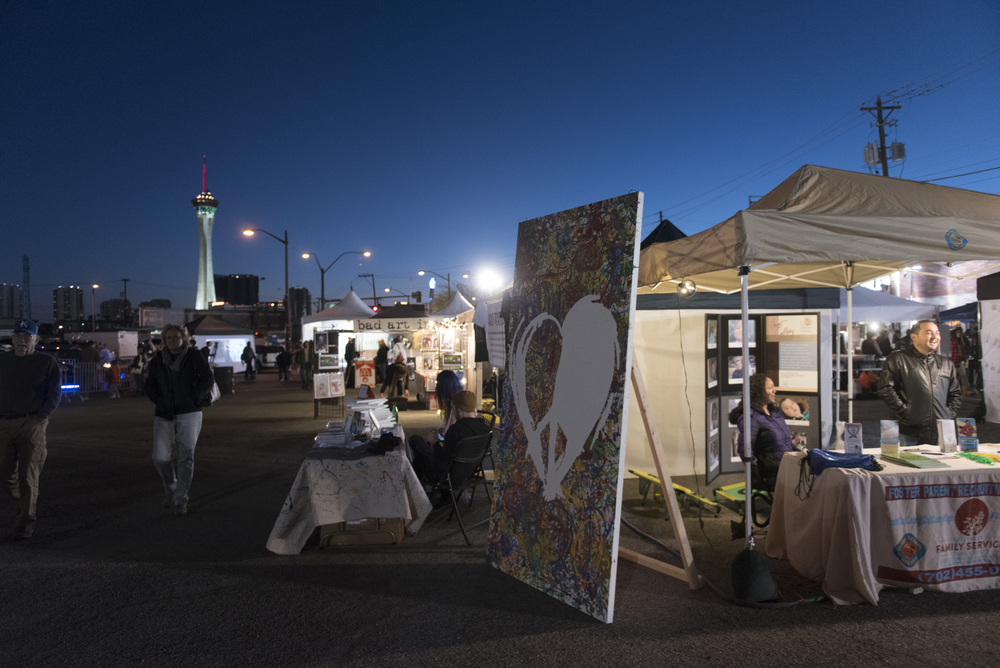 Vendors and patrons enjoy the First Friday arts festival in downtown Las Vegas' 18b Arts District Friday, Feb. 5, 2016. The festival resumed after several months off to reorganize. Jason Ogulnik/Las Vegas Review-Journal