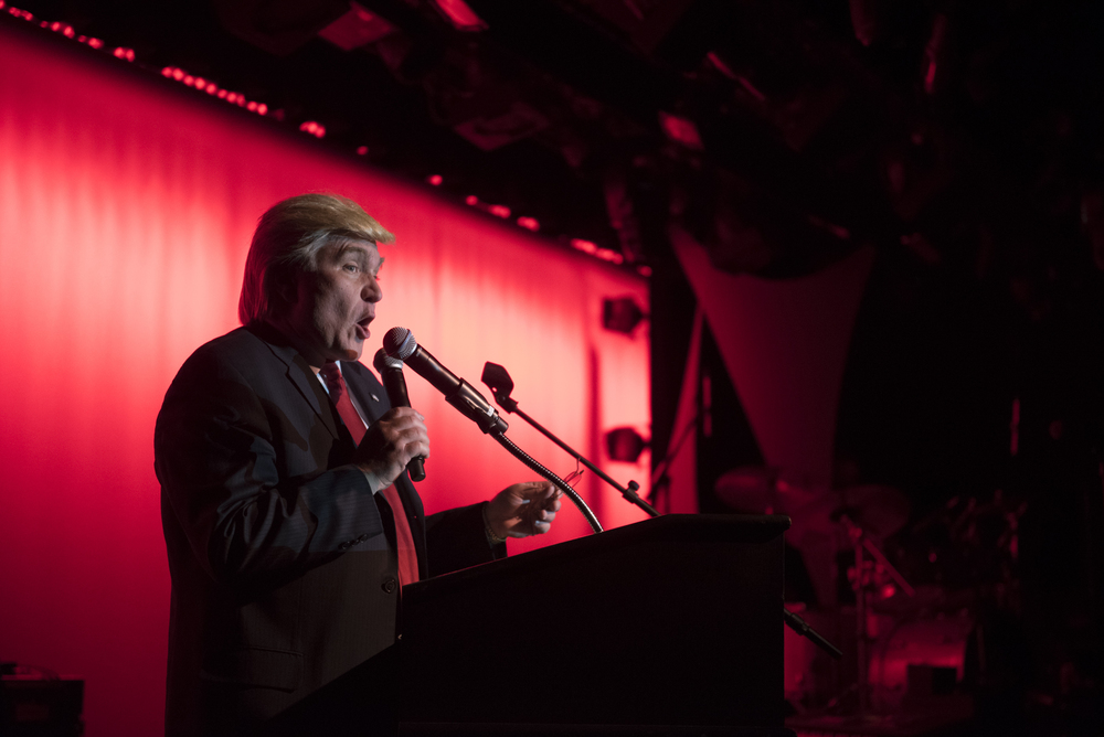 Donald Trump impersonator Marcel Forestieri co-hosts The Reel Awards at Golden Nugget Hotel Casino in Las Vegas Monday, Feb. 22, 2016. The Reel Awards are meant to be a humorous tribute to the real Academy Awards. Jason Ogulnik/Las Vegas Review-Journal