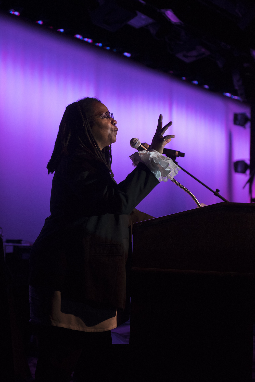 Whoopi Goldberg impersonator Bettina Williams co-hosts The Reel Awards at Golden Nugget Hotel Casino in Las Vegas Monday, Feb. 22, 2016. The Reel Awards are meant to be a humorous tribute to the real Academy Awards. Jason Ogulnik/Las Vegas Review-Journal
