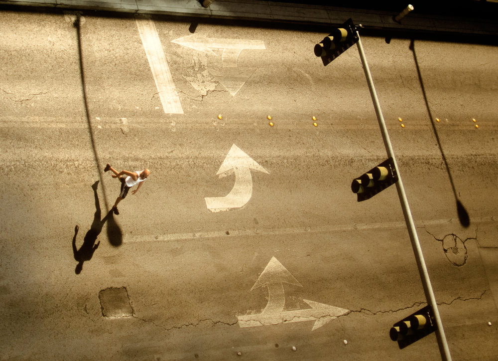 A man crosses Audrie Street behind Planet Hollywood in Las Vegas, Monday, Sept. 22, 2014.