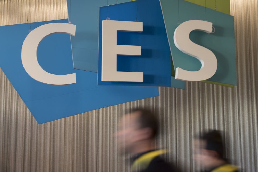 Attendees arrive at the International Consumer Electronics Show (CES) in Las Vegas, Nevada, USA, on January 06, 2017. Jason Ogulnik/Sipa Press