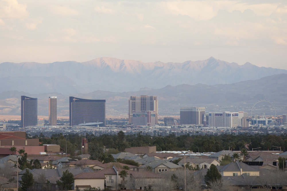 The Strip is seen from Red Rock Casino, Resort & Spa in Las Vegas, Nev., Friday, Jan. 13, 2017.