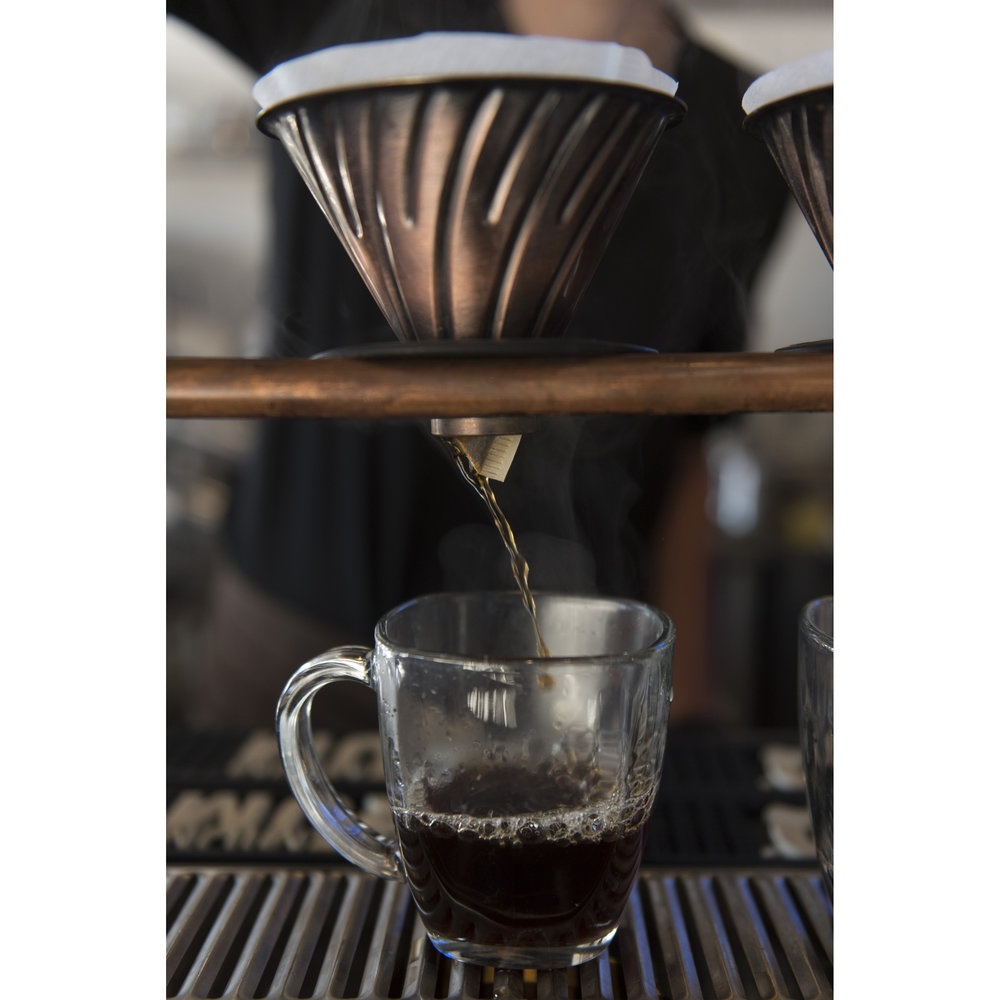A V60 pour over coffee is brewed at Makers & Finders Coffee in downtown Las Vegas, Nev., Tuesday, Jan. 17, 2017. Jason Ogulnik for Parts Unknown, CNN