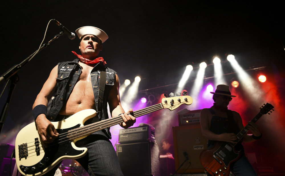Turbonegro performs at Punk Rock Bowling music festival 2015 in Las Vegas, Nev..