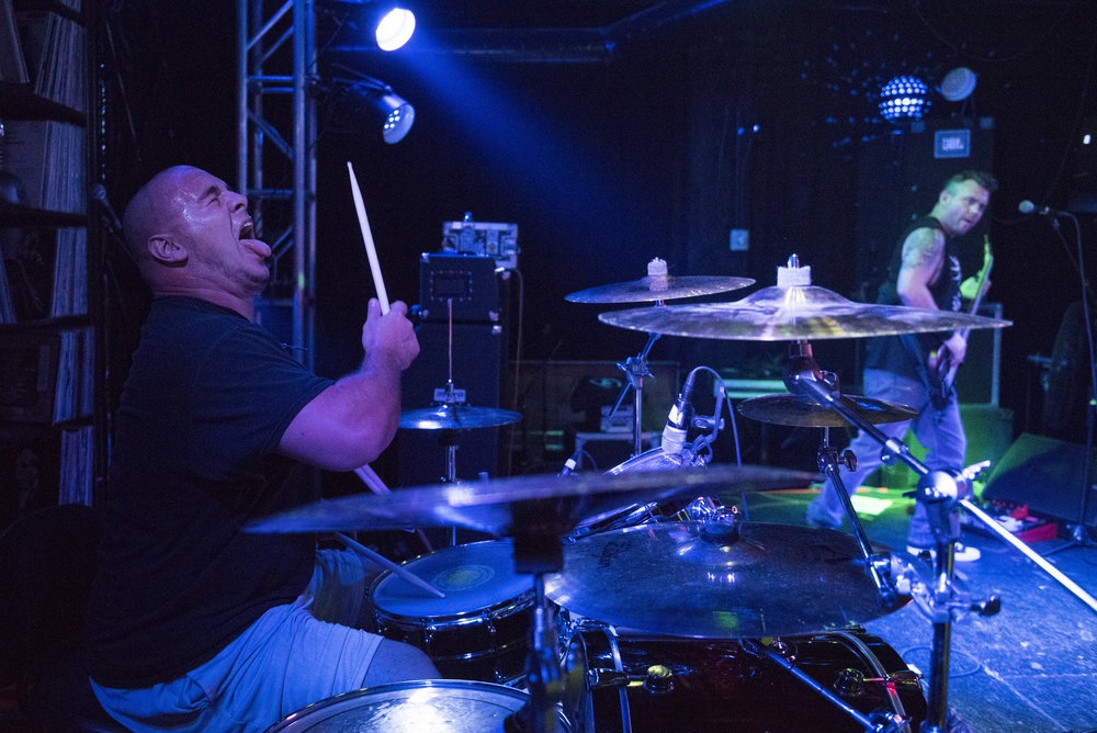 Glenn Cwikla performs with Astoria at Backstage Bar & Billiards in Las Vegas, Nev. on Aug 5, 2017.