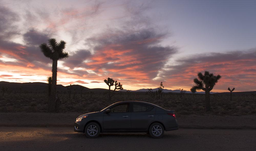 Sunrise at Lee Flat, Death Valley National Park in Calif., Sept. 26, 2017.
