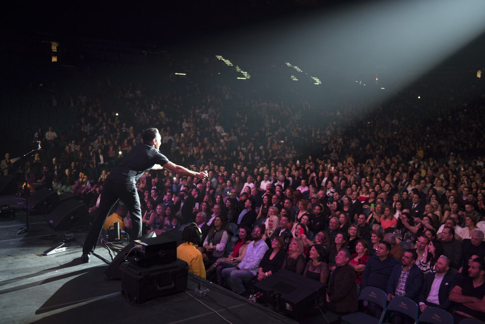 Shadmehr Aghili performs at MGM Grand Garden Arena in Las Vegas, Nev., Dec. 24, 2017.