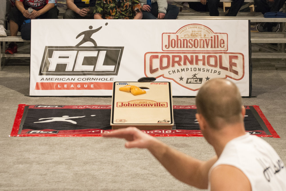 American Cornhole League, National 2 at The Mirage Events Center in Las Vegas, Nev., March 16, 2018.