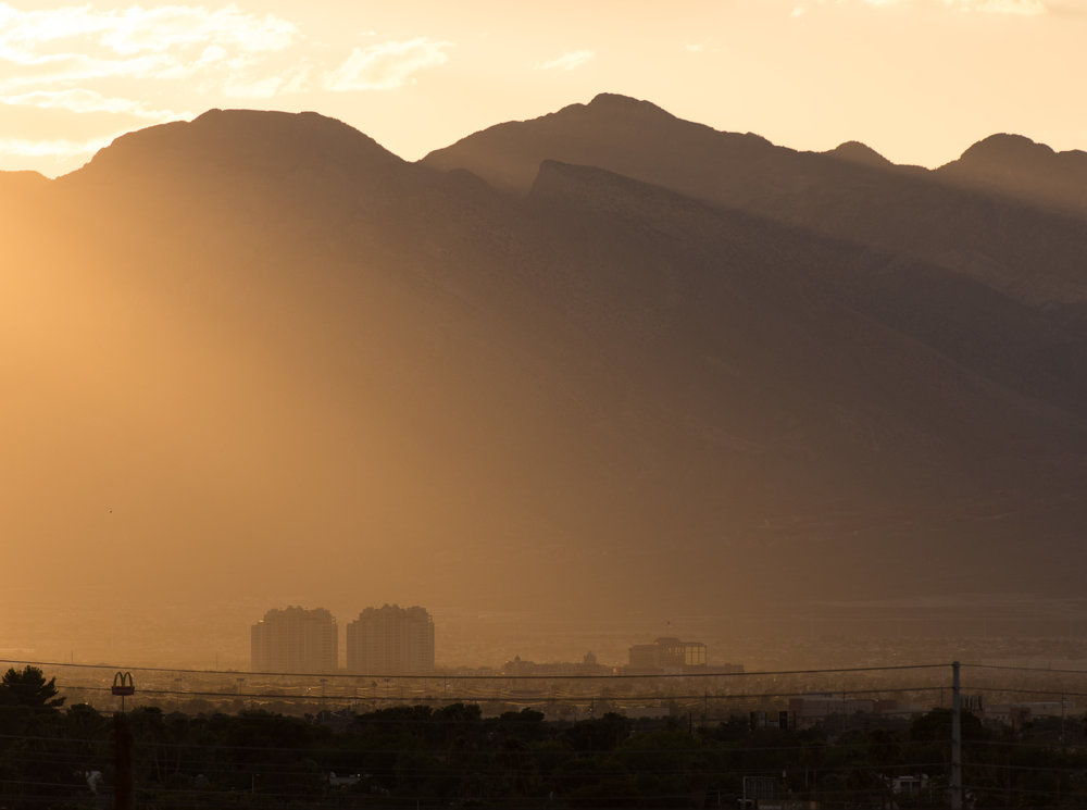 West Las Vegas during sunset.