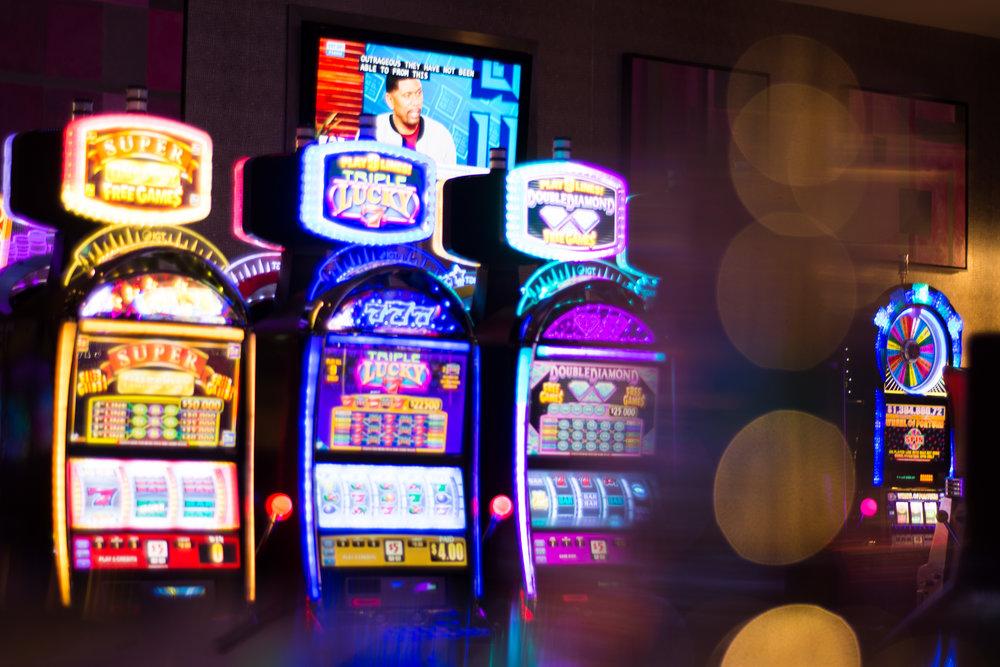 Slots in downtown Las Vegas.