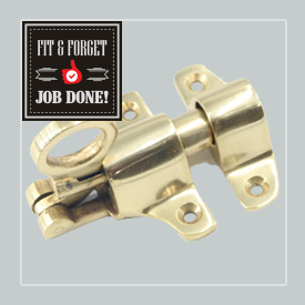 Surface Bolts  Flush mounted surface bolts for secured closures