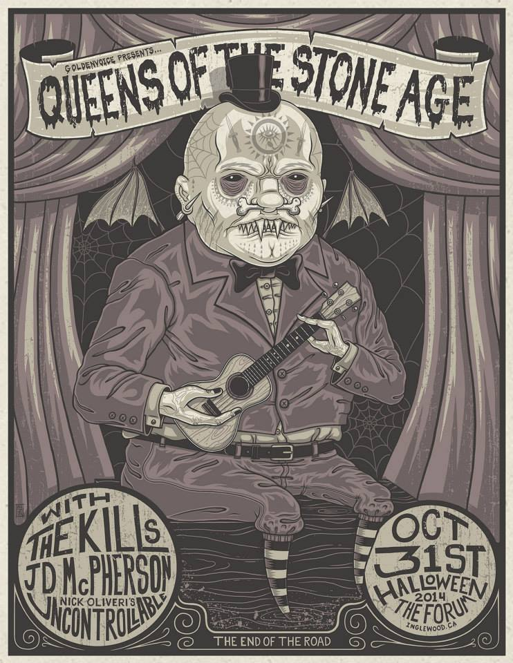 67abe651f3943 New Goldenvoice Poster Design for Queens of the Stone Age at the Forum!