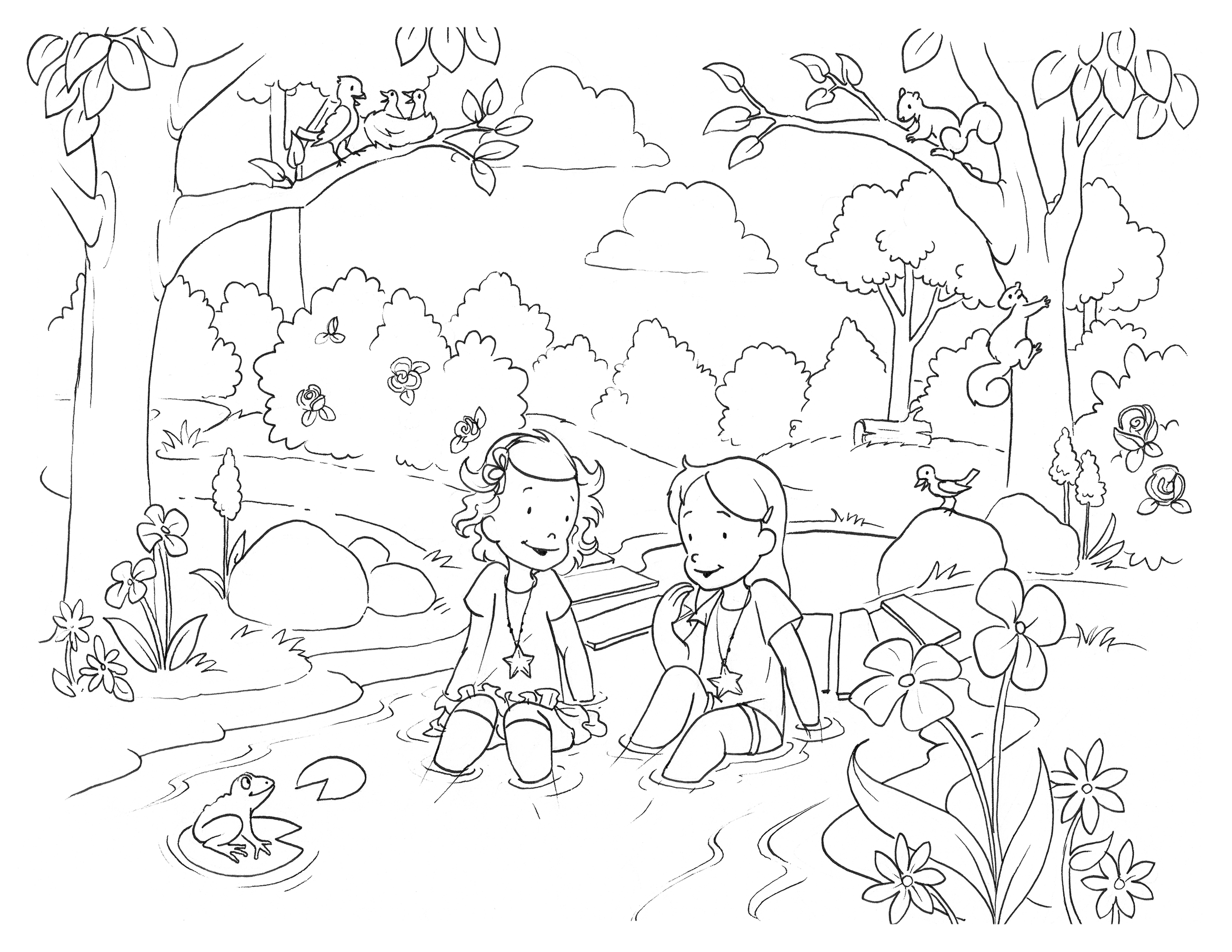 Coloring Pages — Star Sisters Children's Chapter Books
