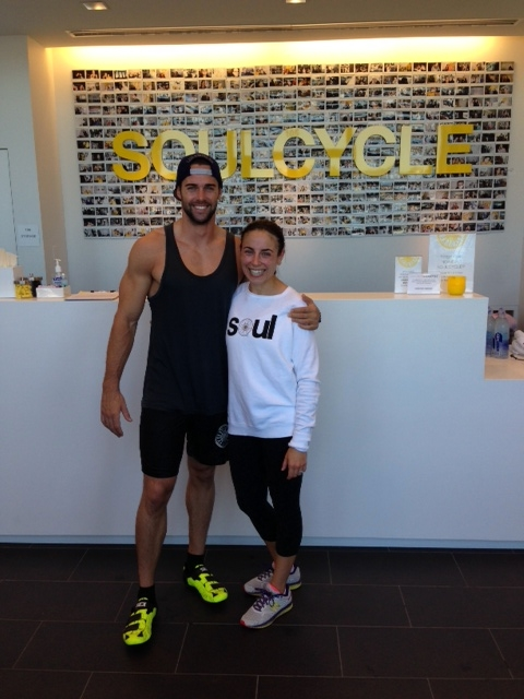 Post work-out pic with Todd from Soul Cycle.