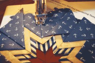 Easy Folded Star Hot Pad Pattern — PlumEasy : folded star quilt block - Adamdwight.com