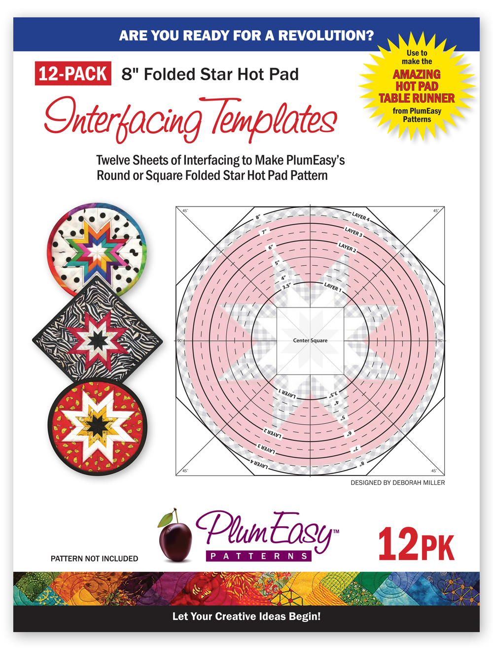 Folded Star Hot Pad Interfacing Templates