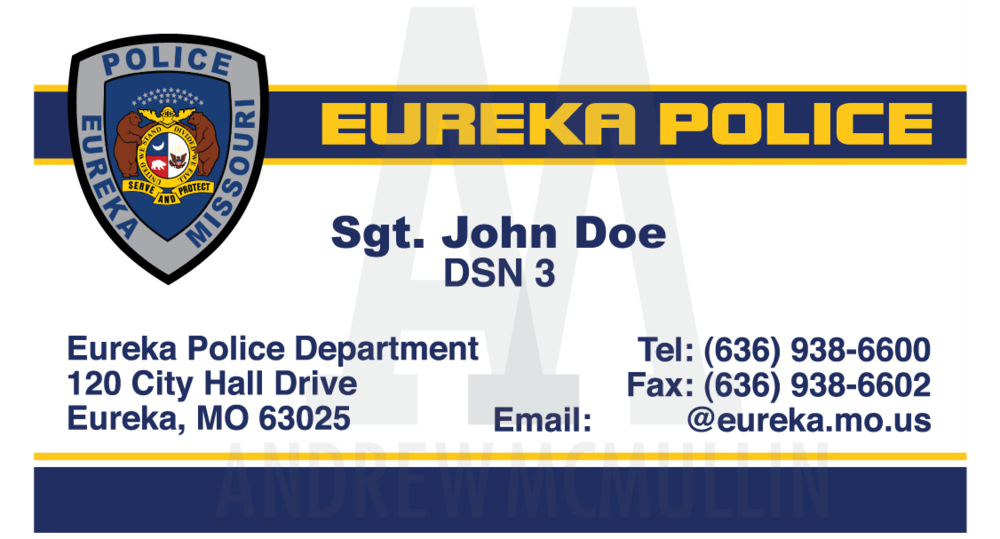 Eureka Police Business Cards — Andrew McMullin