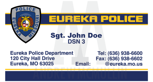 police business cards front olpng - Police Business Cards