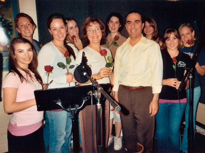 Sopranos of the Los Robles Youth Choir, after recording a work of Ludwig Tuman (center), 2006