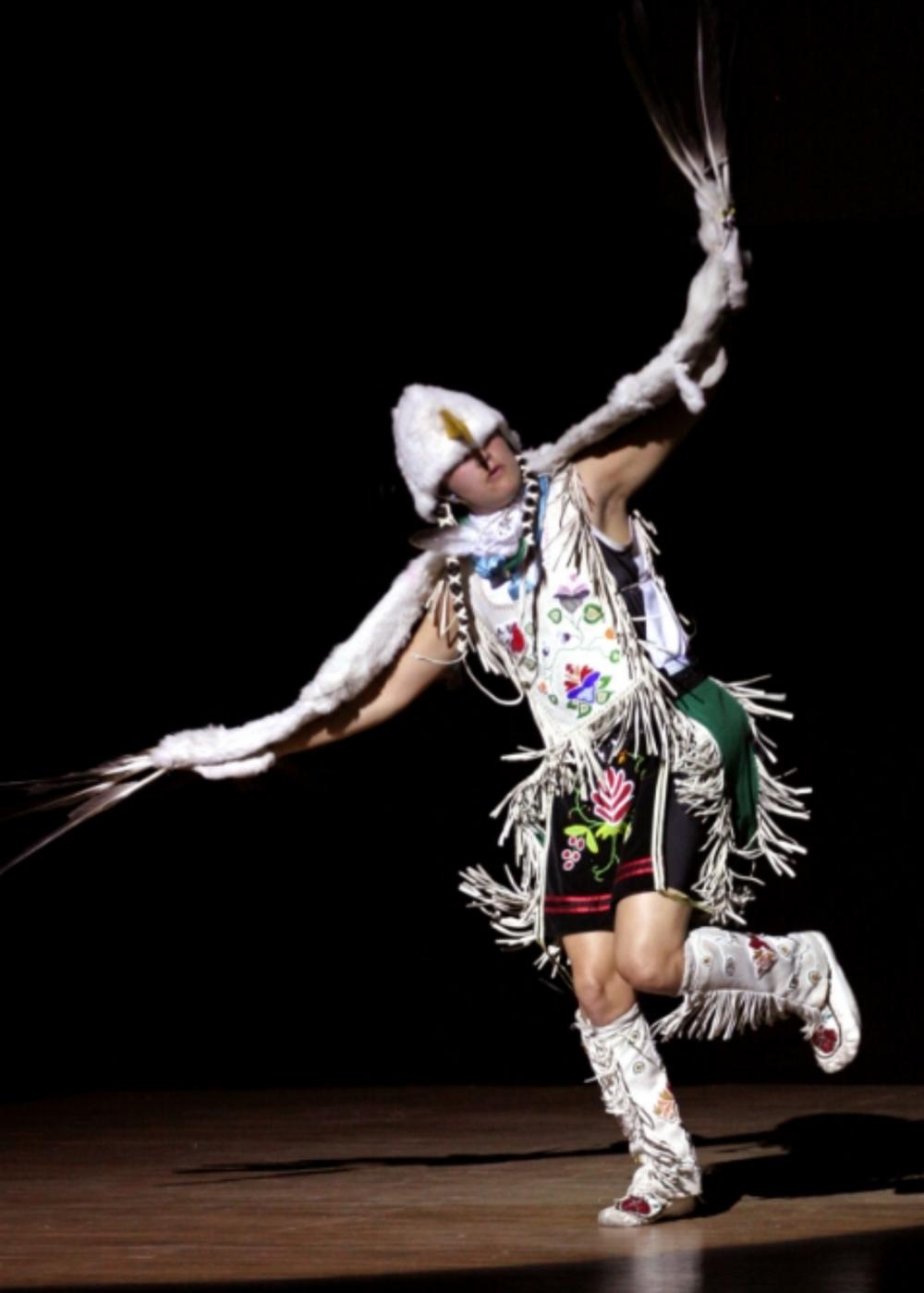Ty Defoe (Ojibwe/Oneida Tribes) USA. Eagle Dance.